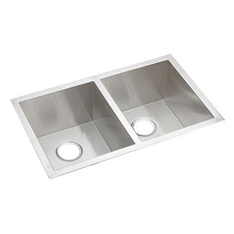stainless steel undermount sink elkay efu311810 avado undermount bowl double basin kitchen
