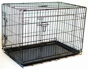 collapsable double door dog crate large size 36 l x23 w x26 h