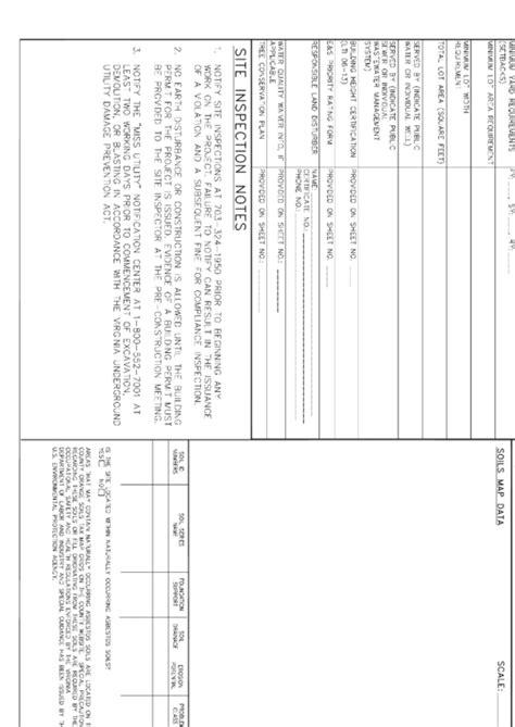 infill grading plan cover sheet fairfax county virginia