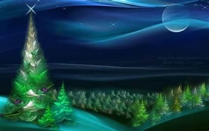 Christmas Wallpapers Tree Nature Desktop Night Backgrounds