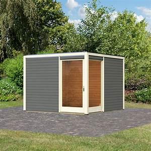 Gartenhaus Grau Modern : gartenhaus cubus eck 2 28 mm grau online kaufen bei g rtner p tschke ~ Buech-reservation.com Haus und Dekorationen