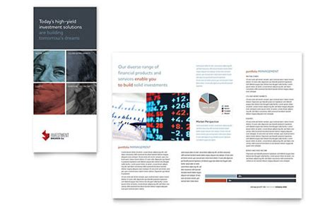 investment wealth management brochure templates