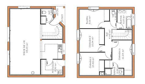 plan maison à étage 4 chambres plan maison 4 chambres 1 etage