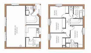 plan maison plain pied 120m2 4 chambres 2 plan maison With plan de maison 120m2 5 plan maison mitoyenne