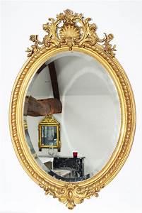Spiegel Groß Antik : ovaler antiker spiegel blattvergoldet 18 jhdt oellers ~ A.2002-acura-tl-radio.info Haus und Dekorationen
