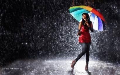 Raining Rain Gifs Lluvia Bajo Wallpapers Umbrella