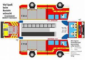 Bastelbogen, Feuerwehr, Zum, Ausdrucken, Bastelbogen, Tlf, Fwr
