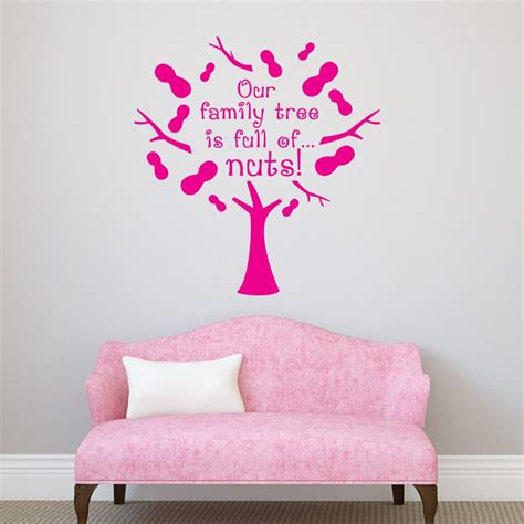 high quality quote wall decal  family tree  full