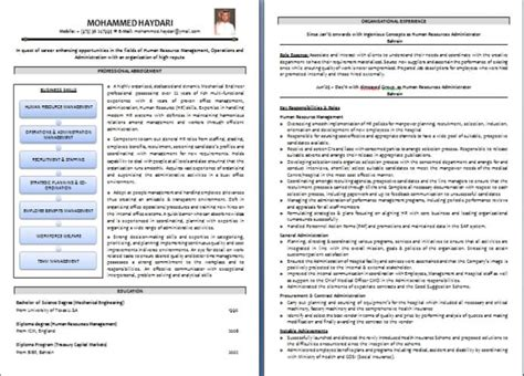 Resume Writing Format by Cv Writing Sle And Templates From Dubai Forever