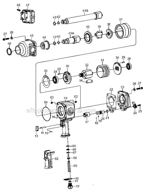 Chicago Pneumatic CP7776-6 Parts List and Diagram