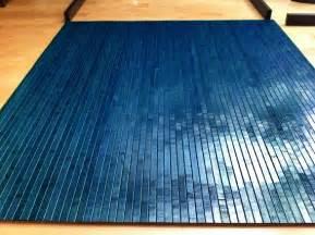 tahoe blue bamboo chair mat office floor mat wood by ecosleek