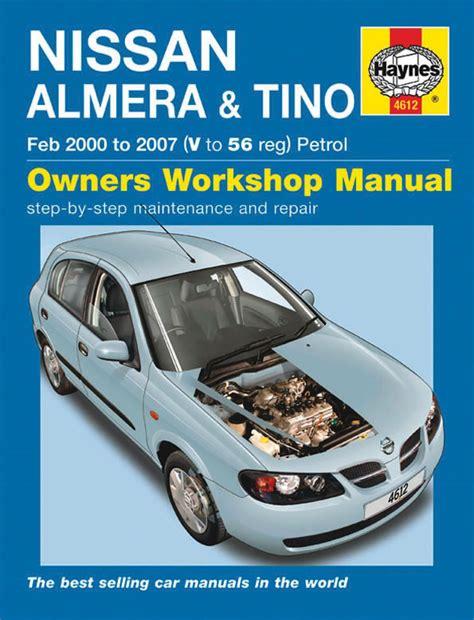 Haynes Workshop Car Repair Manual Nissan Almera Tino