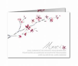 Carte Grise Apres Deces : carte de remerciement d c s branche cerisier aquarelle b 757 d c s pinterest carte de ~ Maxctalentgroup.com Avis de Voitures