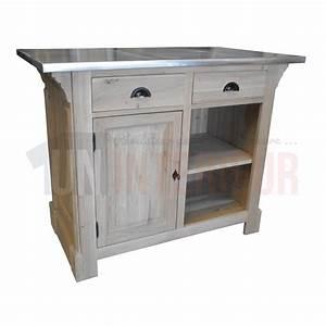 meuble comptoir 140cm chene zinc With comptoir des indes meubles