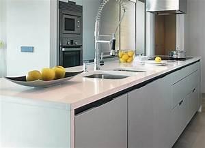 pose d39un plan de travail en quartz poser sur une cuisine With pose d un plan de travail cuisine