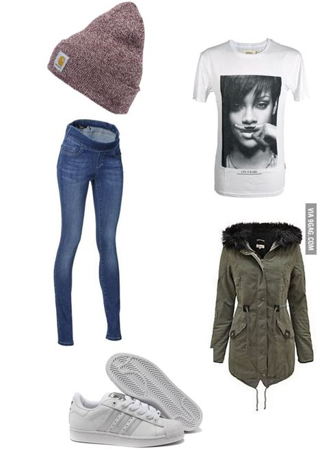 white european girl starter pack winter eedition gag