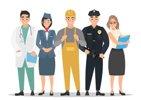 12202 different professions clipart labor day a of of different professions on a
