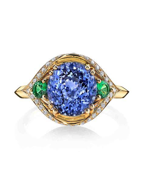 70 colored engagement rings we martha stewart weddings