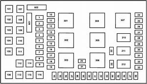 Ford F-350  2002 - 2007  - Fuse Box Diagram