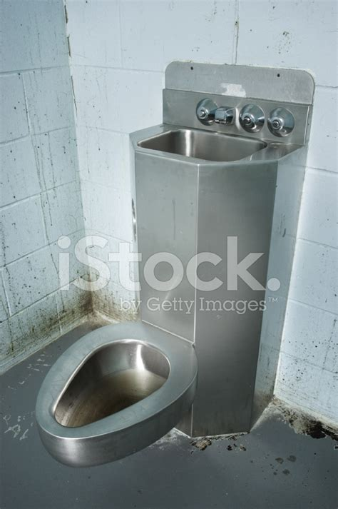 prison toilet and sink prison cell toilet stock photos freeimages com