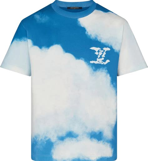 louis vuitton blue white clouds print  shirt incorporated style