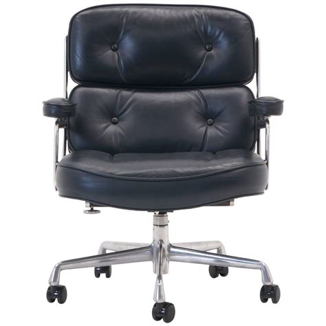 eames time management desk chair blue gray