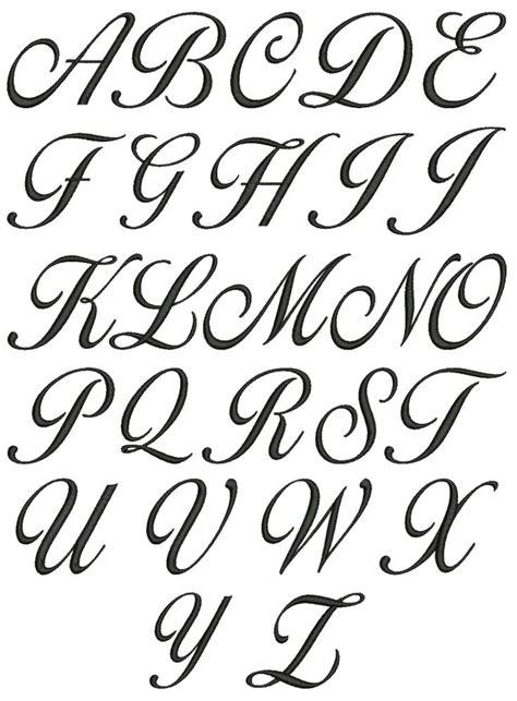 Cursive Bubble Letters Az Letters
