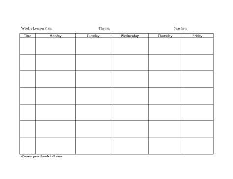 lesson plan book template printable preschool lesson plan template lesson plan book template