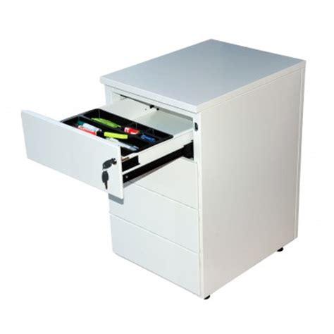 serrure tiroir bureau caisson en métal à hauteur de bureau 4 tiroirs armoire fr