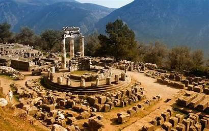 Greece Delphi Places Background Ancient Visit Travel