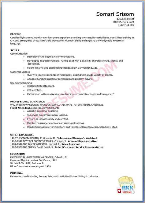 Resume Eg by 31 Flight Attendant Resume No Experience Ts U38118