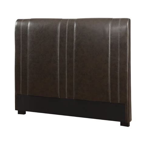brown leather headboard bowery hill faux leather headboard in brown bh 1377862