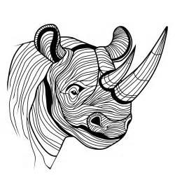 Rhino Tattoo Designs Drawings