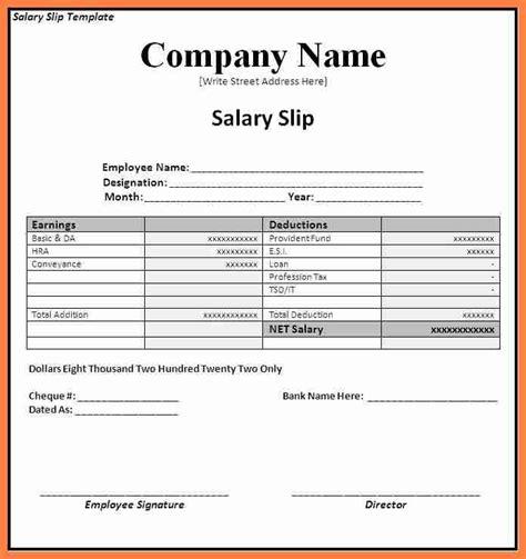 10 How To Submit Salary History Salary Slip 4 Employee Salary Slip Format Salary Slip