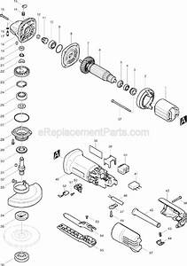 Makita 9557pb Parts List And Diagram   Ereplacementparts Com