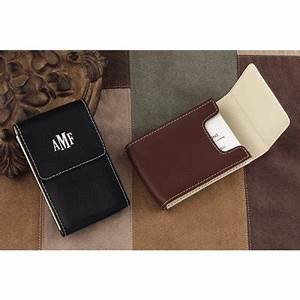 Leather business card case mens gift for Mens business card case