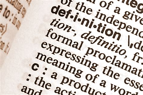 The Importance Of Clear Definitions The Four Definitions