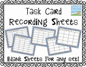 free blank task card recording sheets need a recording With blank task card template