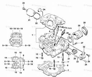 Arctic Cat Atv 1998 Oem Parts Diagram For Cylinder Head