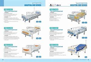 Hospital Use Double Crank Manual Adjustable Sick Bed