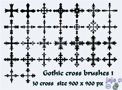 Gothic Cross Brushes 1 By Jojo-ojoj On Deviantart