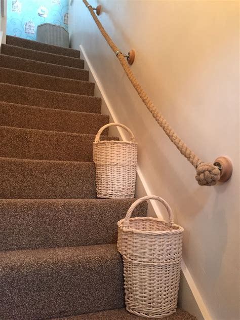 Treppe Handlauf Seil rope handrail and stairs baskets stairs landing and