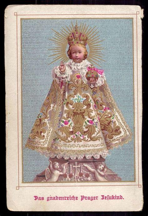 Infant Jesus Of Prague Old W Gold Holy Card Holy Cards
