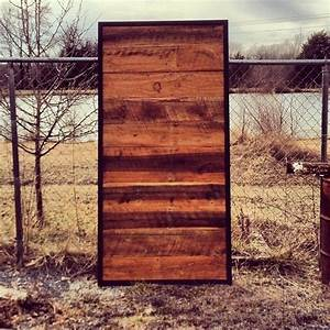 Custom made sliding door barn wood steel by the rusted for Barnwood pocket door