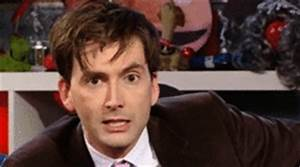Reaction gif tagged with wink, David Tennant