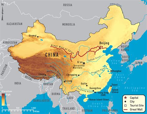 China Rivers Map 2018, Important Rivers In China