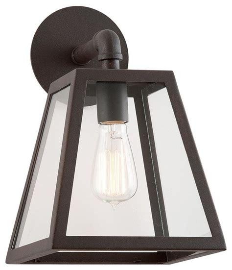 modern industrial clear glass outdoor wall light l shades by shades of light