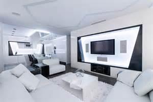 Small Living Room Decorating Ideas Futuristic Axioma Apartment In Black And White By Geometrix Design Freshome