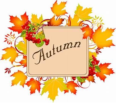 Clipart Autumn Fall Clip Border September Word
