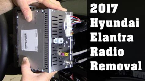 hyundai elantra radio removal youtube